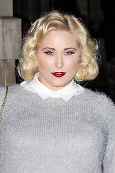 © Licensed to London News Pictures. 20/02/2014, UK. Hayley Hasselhoff, The Langham Hotel, London UK, 20 February 2014,. Photo credit : Richard Goldschmidt/Piqtured/LNP