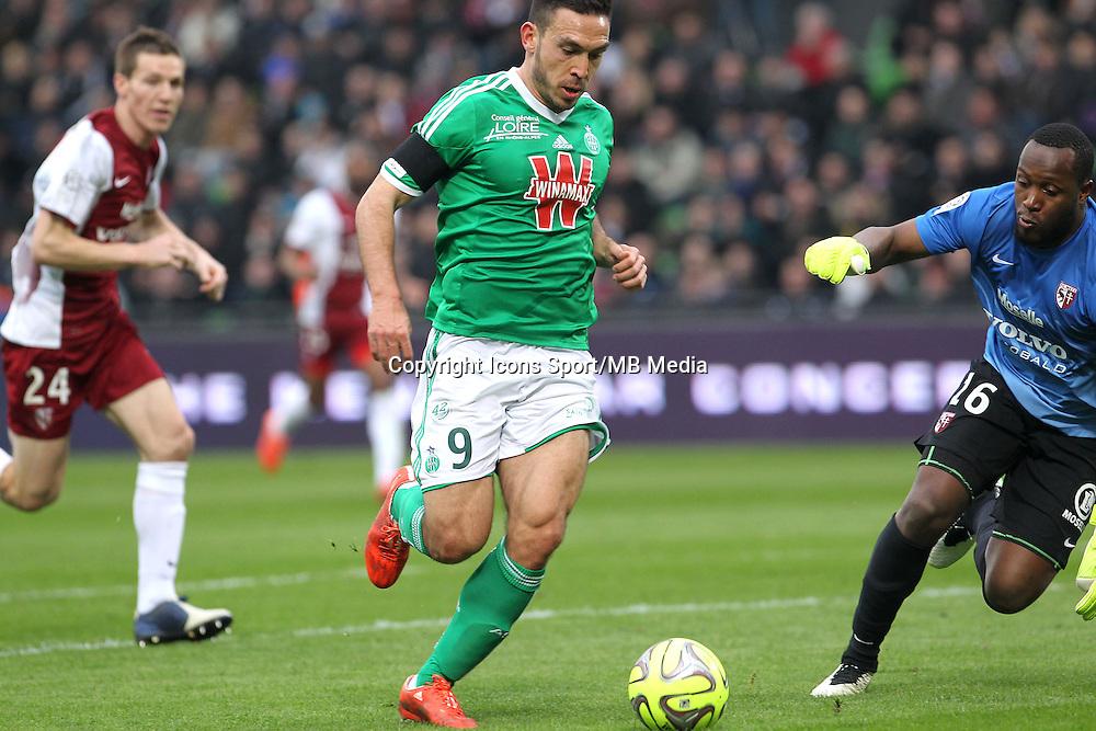Goal Mevlut ERDING - 14.03.2015 - Metz / Saint Etienne - 29e journee Ligue 1<br /> Photo : Fred Marvaux / Icon Sport
