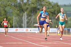 03/08/2017; Hatz, Beatriz, F44, USA, Jordaan, Alissa, F47, AUS at 2017 World Para Athletics Junior Championships, Nottwil, Switzerland