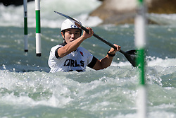 Tong LI of China during the Canoe Single (WK1) Womens Semi Final race of 2019 ICF Canoe Slalom World Cup 4, on June 28, 2019 in Tacen, Ljubljana, Slovenia. Photo by Sasa Pahic Szabo / Sportida