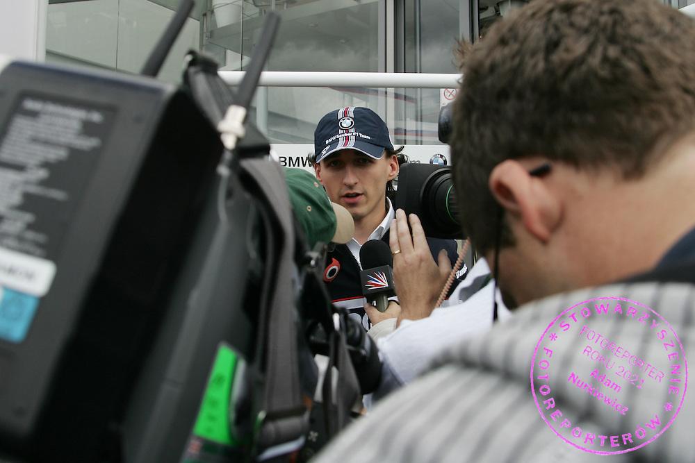 03.07.2008 Silverstone, England, .Robert Kubica (POL),  BMW Sauber F1 Team - Formula 1 World Championship, Rd 9, British Grand Prix, Thursday .FOT. XPB.CC / WROFOTO.*** POLAND ONLY !!! ***.*** NO INTERNET / MOBILE USAGE !!! **