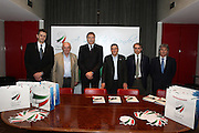 DESCRIZIONE : Milano Mediolanum Forum di Assago Commissione FIBA in visita per assegnazione dei Mondiali 2014<br /> GIOCATORE : Boris Stankovic Markus Studar Predrag Bogosavljev Massimo Cilli Dino Meneghin <br /> SQUADRA : Fiba Fip<br /> EVENTO : Visita per assegnazione dei Mondiali 2014<br /> GARA :<br /> DATA : 31/03/2009<br /> CATEGORIA : Ritratto<br /> SPORT : Pallacanestro<br /> AUTORE : Agenzia Ciamillo-Castoria/G.Ciamillo<br /> Galleria : Italia 2014<br /> Fotonotizia : Milano visita per assegnazione dei Mondiali 2014<br /> Predefinita :