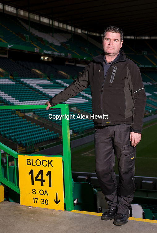 John or Jock McStay, former Scottish professional footballer. During the time he played as a defender for Raith Rovers he was headbutted by Duncan Ferguson who subsequently served time in prison for the assault. Photographed at Celtic Park where he now works. 24th January 2014<br /> <br /> Picture by Alex Hewitt<br /> alex.hewitt@gmail.com<br /> 07789 871540