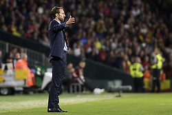 October 15, 2018 - Seville, Spain - GARETH SOUTHGATE, head coach of England, in action during the UEFA Nations League Group A4 soccer match between Spain and England at the Benito Villamarin Stadium (Credit Image: © Daniel Gonzalez Acuna/ZUMA Wire)