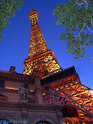 Paris Hotel, Casino, Resort, Las Vegas Nevada, Strip, Hotel Casino Resorts at night Hospitality