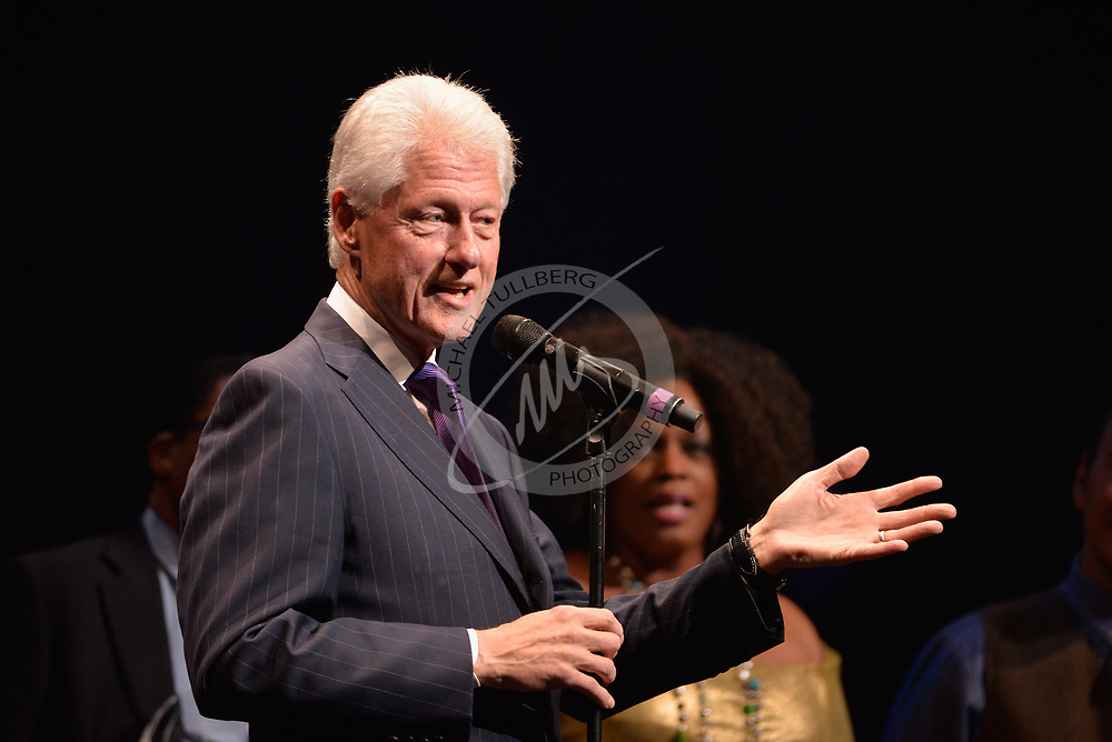 Former President Bill Clinton at  the Dolby Theatre in Hollywood, California.