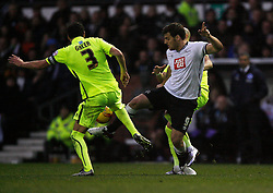 Chris Martin of Derby County (R) in action - Mandatory byline: Jack Phillips / JMP - 07966386802 - 12/12/2015 - FOOTBALL - The iPro Stadium - Derby, Derbyshire - Derby County v Brighton & Hove Albion - Sky Bet Championship