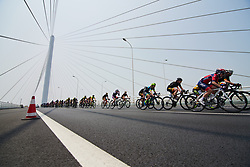 Speeding toward the QoM point at Tour of Chongming Island 2018 - Stage 2, a 121.3km road race from Changxing Fenghuang Park to Chongming Island on April 27, 2018. Photo by Sean Robinson/Velofocus.com