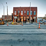 Anton's Taproom and Kansas City Streetcar construction progress