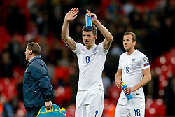 Michael Carrick of England (Manchester United) celebrates at full time after England win 4-0 - Photo mandatory by-line: Rogan Thomson/JMP - 07966 386802 - 27/03/2015 - SPORT - FOOTBALL - London, England - Wembley Stadium - England v Lithuania UEFA Euro 2016 Qualifier.