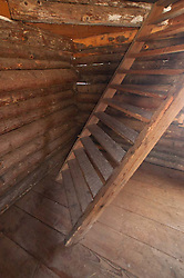Blockhouse Interior at English Camp, San Juan Island, Washington, US