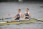 Lucerne, SWITZERLAND. GBR W2-, Bow Olivia WHITLAM and Louisa REEVE,  move away from the start in their afternoon semi final, at the  2008 FISA World Cup Regatta, Round 2.  Lake Rotsee, on Saturday, 31/05/2008.  [Mandatory Credit:  Peter Spurrier/Intersport Images].Lucerne International Regatta. Rowing Course, Lake Rottsee, Lucerne, SWITZERLAND.