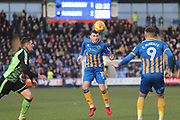 Nathan Thomas of Shrewsbury Town (10) during the EFL Sky Bet League 1 match between Shrewsbury Town and Plymouth Argyle at Greenhous Meadow, Shrewsbury, England on 10 February 2018. Picture by Mick Haynes.