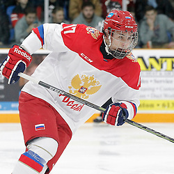 TRENTON, - Dec 10, 2015 -  Exhibition Game 3-  Russia vs Team Canada West at the 2015 World Junior A Challenge at the Duncan Memorial Gardens, ON. German Rubtsov #17 of Team Russia during the first period (Photo: Amy Deroche / OJHL Images)
