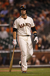 SAN FRANCISCO, CA - APRIL 18: Buster Posey #28 of the San Francisco Giants returns to the dugout after striking out against the Arizona Diamondbacks during the eighth inning at AT&T Park on April 18, 2016 in San Francisco, California. The Arizona Diamondbacks defeated the San Francisco Giants 9-7 in 11 innings.  (Photo by Jason O. Watson/Getty Images) *** Local Caption *** Buster Posey