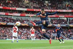 Rodrigo Moreno of Valencia shoots - Mandatory by-line: Arron Gent/JMP - 02/05/2019 - FOOTBALL - Emirates Stadium - London, England - Arsenal v Valencia - UEFA Europa League Semi-Final 1st Leg