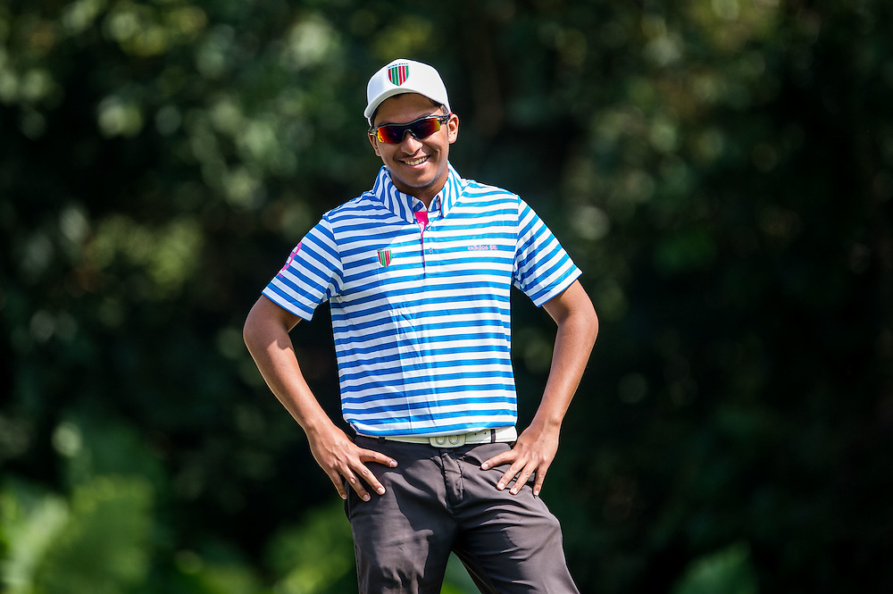 Leon Philip D´Souza of Hong Kong in action during day two of the 10th Faldo Series Asia Grand Final at Faldo course on 03 March of 2016 in Shenzhen, China. Photo by Xaume Olleros.