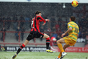 Morecambe Midfielder Jamie Devitt during the Sky Bet League 2 match between Morecambe and Yeovil Town at the Globe Arena, Morecambe, England on 16 January 2016. Photo by Pete Burns.