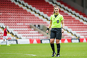 Lucy Oliver, Referee during the FA Women's Super League match between Manchester United Women and Bristol City Women at Leigh Sports Village, Leigh, United Kingdom on 5 January 2020.