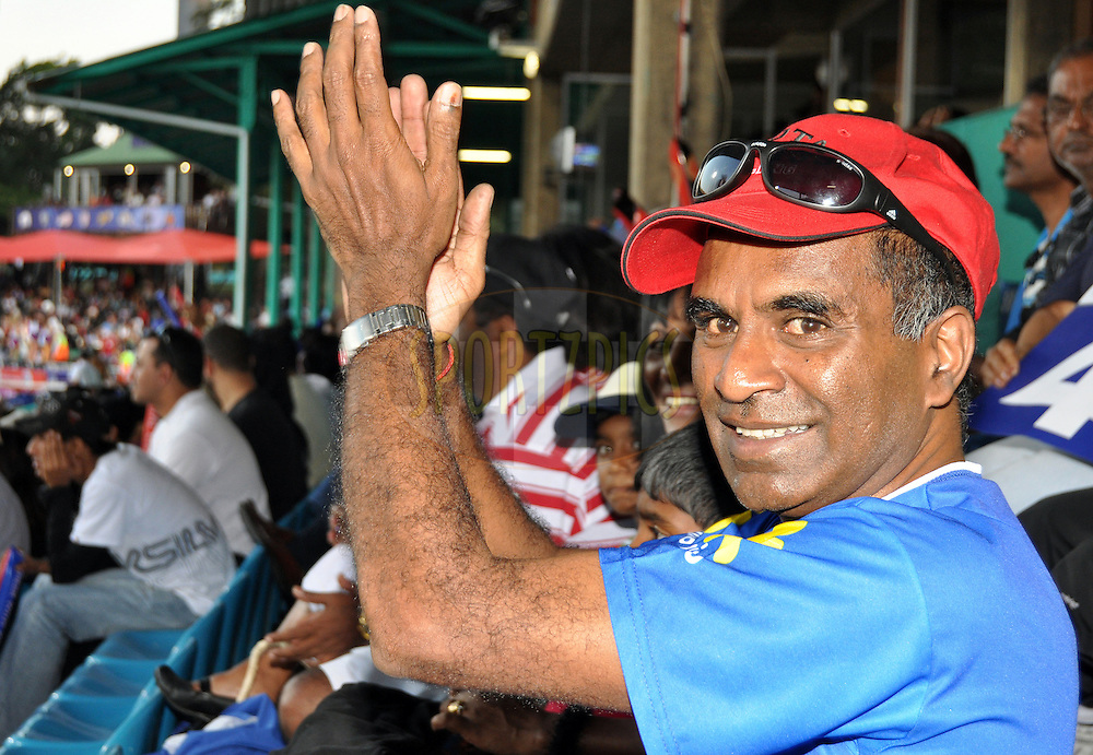 DURBAN, SOUTH AFRICA - 24 April 2009. Spectator during the IPL Season 2 match between the Royal Challengers Bangalore and the Kings X1 Punjab held at Sahara Stadium Kingsmead, Durban, South Africa..