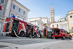 Fire and explosion in old town Piran on August 22, 2019 in Piran, Slovenia. Photo by Matic Klansek Velej / Sportida