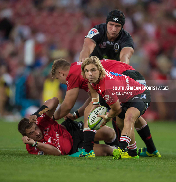 JOHANNESBURG, SOUTH AFRICA - MARCH 18: Faf de Klerk of the Emirates Lions in action during the Super Rugby match between Emirates Lions and Reds at Emirates Airlines Park on March 18, 2017 in Johannesburg, South Africa. (Photo by Anton Geyser/Gallo Images)