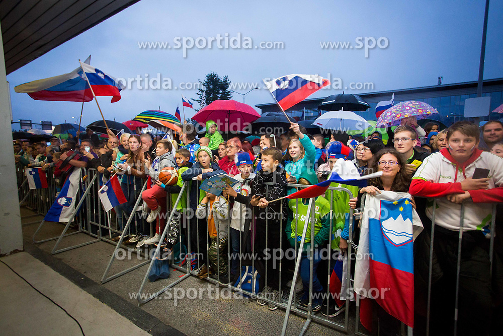 Reception of Slovenian national basketball team after Eurobasket 2017, on Septebmer 18, 2017 in Letalisce Jozeta Pucnika, Brnik, Kranj, Slovenia. Photo by Ziga Zupan / Sportida