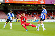 Josh Carson during the Friendly match between York City and Sheffield Wednesday at Bootham Crescent, York, England on 18 July 2015. Photo by Simon Davies.