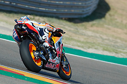 September 22, 2018 - Marc Marquez (Repsol Honda Team) in action during the Gran Prix Movistar the Aragón. 22-09-2018  September 22, 2018. (Credit Image: © AFP7 via ZUMA Wire)