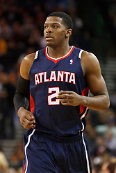 February 25, 2011; Oakland, CA, USA;  Atlanta Hawks shooting guard Joe Johnson (2) runs up court against the Golden State Warriors during the first quarter at Oracle Arena. Atlanta defeated Golden State 95-79.