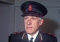 Mr J A Peacocke, Inspector-General, RUC, Royal Ulster Constabulary, N Ireland. He held the position from February to November 1969. 196901000001a<br /> <br /> Copyright Image from Victor Patterson, 54 Dorchester Park, Belfast, UK, BT9 6RJ<br /> <br /> t: +44 28 90661296<br /> m: +44 7802 353836<br /> vm: +44 20 88167153<br /> e1: victorpatterson@me.com<br /> e2: victorpatterson@gmail.com<br /> <br /> For my Terms and Conditions of Use go to www.victorpatterson.com