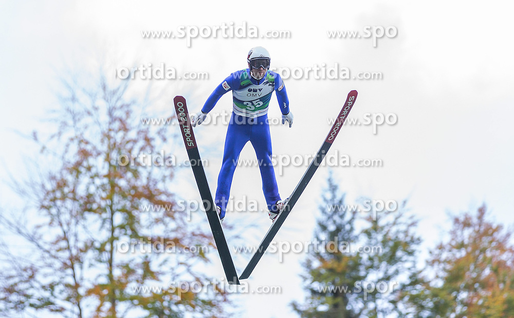 12.10.2014, Montafoner Schanzenzentrum, Tschagguns, AUT, OeSV, Oesterreichische Staatsmeisterschaften Ski Nordisch, im Bild Mario Stecher, (AUT) // Mario Stecher of Austria during Austrian Nordic Ski Championships at the Montafoner Schanzenzentrum, Tschagguns, Austria on 2014/10/12. EXPA Pictures © 2014, EXPA/ Peter Rinderer