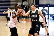 Biella, 15/12/2012<br /> Basket, All Star Game 2012<br /> Allenamento Nazionale Italiana Maschile <br /> Nella foto: david cournooh, riccardo moraschini<br /> Foto Ciamillo