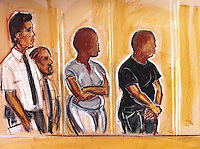 16 year old Ealing teenager is remanded in custody accused of the murder of a 68 year old man in Ealing during the London riots.<br /> His mother, standing beside him, is also remanded in custody charged with perverting the course of justice