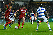 Paddy McNair (17) of Middlesbrough on the attack during the EFL Sky Bet Championship match between Queens Park Rangers and Middlesbrough at the Kiyan Prince Foundation Stadium, London, England on 9 November 2019.