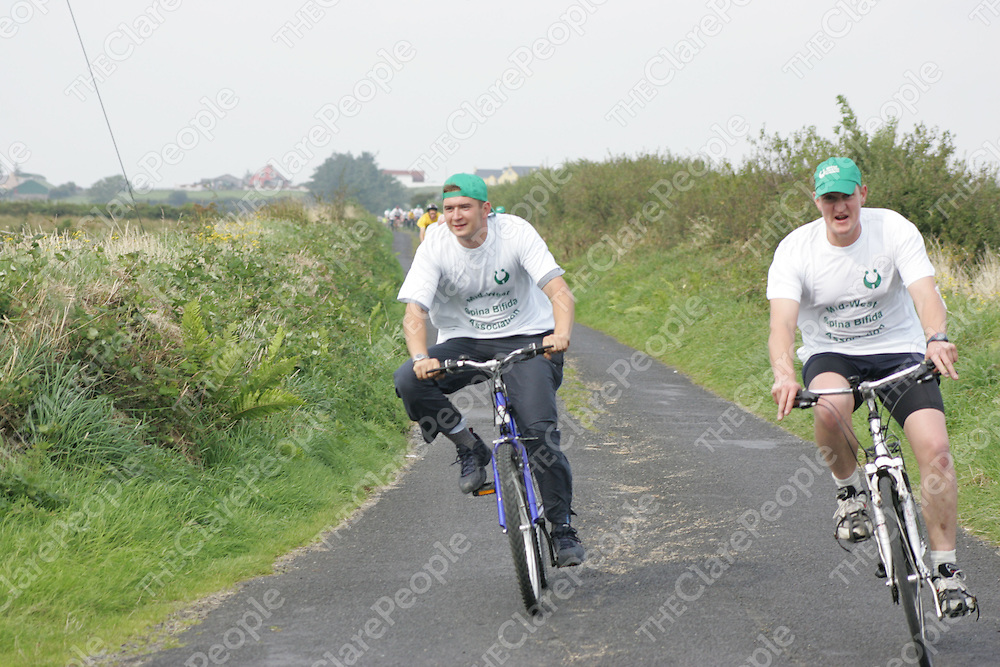 Dan O Morrisey and Liam Connolly in the Michael Garry Memorial Charity Cycle in Cooraclare/Cree on Saturday. Pic. Brian Arthur/ Press 22.