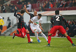 26.11.2015, WWK Arena, Augsburg, GER, UEFA EL, FC Augsburg vs Athletic Bilbao, Gruppe L, im Bild Mikel San Jose ( Athletic Bilbao ) Mikel Rico ( Athletic Bilbao ) Halil Altintop ( FC Augsburg ) Eneko Boveda ( Athletic Bilbao ) // during UEFA Europa League group L match between FC Augsburg and Athletic Bilbao at the WWK Arena in Augsburg, Germany on 2015/11/26. EXPA Pictures © 2015, PhotoCredit: EXPA/ Eibner-Pressefoto/ Langer<br /> <br /> *****ATTENTION - OUT of GER*****