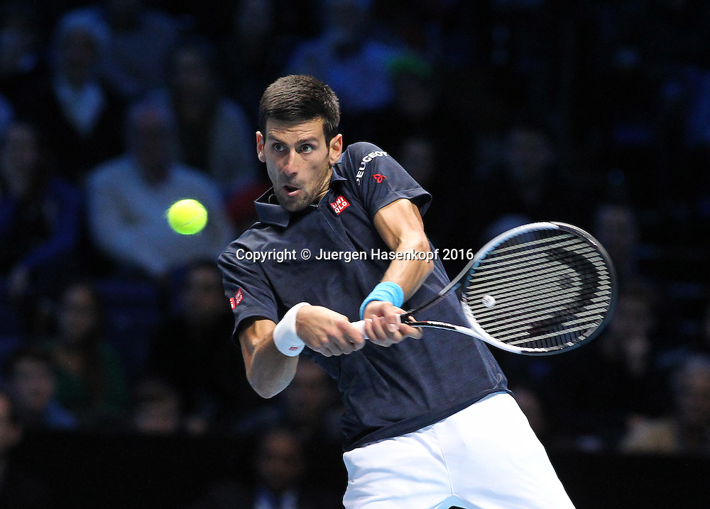 NOVAK DJOKOVIC (SRB), ATP World Tour Finals, O2 Arena, London, England.<br /> <br /> Tennis - ATP World Tour Finals 2016 - ATP -  O2 Arena - London -  - Great Britain  - 19 November 2016. <br /> &copy; Juergen Hasenkopf/Grieves