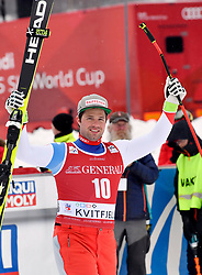 03.03.2019, Olympiabakken, Kvitfjell, NOR, FIS Weltcup Ski Alpin, SuperG, Herren, im Bild Beat Feuz SUI //  during the winner Ceremony for the men's Super-G of FIS Ski Alpine World Cup.  Olympiabakken in Kvitfjell, Norway on 2019/03/03. EXPA Pictures © 2019, PhotoCredit: EXPA/ SM<br /> <br /> *****ATTENTION - OUT of GER*****