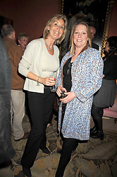 Left to right, SUSIE BUCHANAN and VISCOUNTESS GORMANSTON at a party to celebrate the publication of 'A Lion called Christian' held at 36 Chapel Street, London SW1 on 26th March 2009.