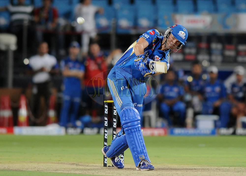 James Franklin of Mumbai Indians bats during match 45 of the Indian Premier League ( IPL) 2012  between The Pune Warriors India and the Mumbai Indians held at the Subrata Roy Sahara Stadium, Pune on the 3rd May 2012..Photo by Pal Pillai/IPL/SPORTZPICS
