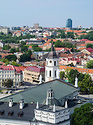 High-angle view of Vilnius taken from Gediminas Tower; Lithuania