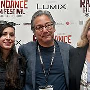 Director Mako Funasaka family and friends attend 'Souls of Totality' film at Raindance Film Festival 2018, London, UK. 30 September 2018.