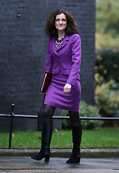 © Licensed to London News Pictures. 01/12/2015. London, UK Northern Ireland Secretary THERESA VILLIERS arrives for a Cabinet meeting ahead of a vote in Parliament on bombing IS targets in Syria. Photo credit: Peter Macdiarmid/LNP