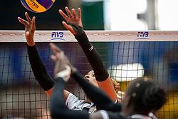 03-08-2019 ITA: FIVB Tokyo Volleyball Qualification 2019 / Netherlands, - Kenya Catania<br /> 3rd match pool F in hall Pala Catania between Netherlands - Kenya. Netherlands win 3-0 / Janet Wanja #7 of Kenia