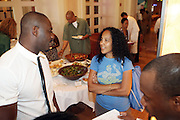 24 June 2010- Miami Beach, Florida- l to r: Idris Elba and Gina Bythewood at the The 2010 American Black Film Festival Founder's Brunch held at Emeril's on June 24, 2010. Photo Credit: Terrence Jennings/Sipa