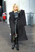 05.NOVEMBER.2012. LONDON<br /> <br /> RITA ORA LEAVING THE ITV STUDIOS IN SOUTHBANK WEARING MATCHING BLACK LEATHER DRESS AND KNEE LENGTH LEATHER BOOTS BEFORE THEN HEADING TO THE STUDIOS OF RADIO 1.<br /> <br /> BYLINE: EDBIMAGEARCHIVE.CO.UK<br /> <br /> *THIS IMAGE IS STRICTLY FOR UK NEWSPAPERS AND MAGAZINES ONLY*<br /> *FOR WORLD WIDE SALES AND WEB USE PLEASE CONTACT EDBIMAGEARCHIVE - 0208 954 5968*