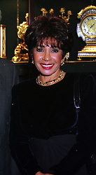 Singer SHIRLEY BASSEY at a party in London on 1st December 1999. MZR 12 wo