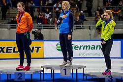 14-01-2018 DUI: ISU European Short Track Championships 2018 day 3, Dresden<br /> Suzanne Schulting NED #7, Arianna Fontana# 9, Anna Seidel GER #17
