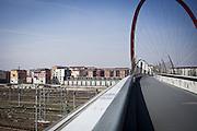 Vista delle ex palazzine olimpiche (sulla sinistra) dalla passerella olimpica di Torino 2006.